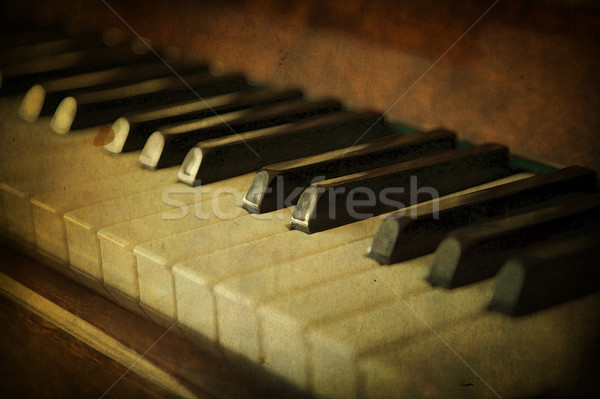 Blanc noir touches de piano musique piano clé sonores Photo stock © carenas1