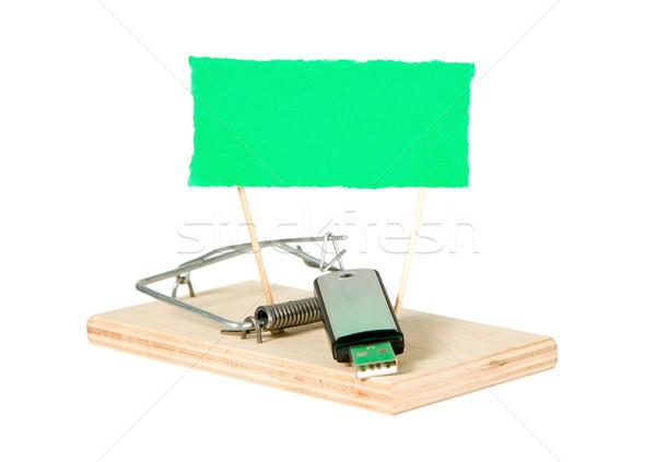 мыши ловушка портативный драйвера бумаги компьютер Сток-фото © carenas1