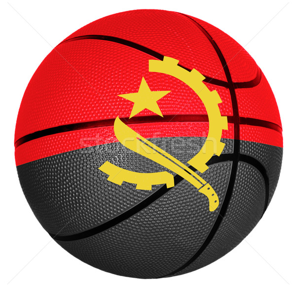 Basketball ball with flag of Angola Stock photo © carenas1