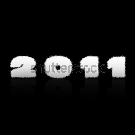 Happy new year 2011 étiquette coloré noir heureux Photo stock © carenas1