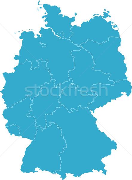 Térkép Németország vidék Stock fotó © carenas1