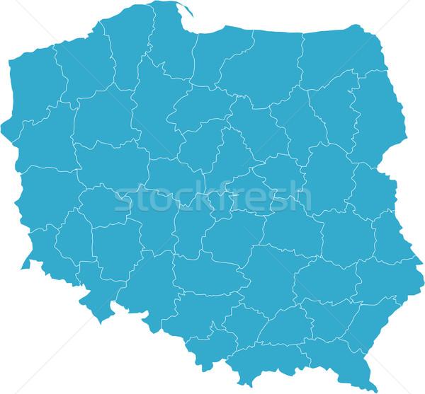 Map of Poland Stock photo © carenas1