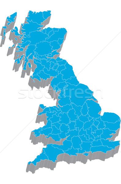 Map of Great Britain Stock photo © carenas1