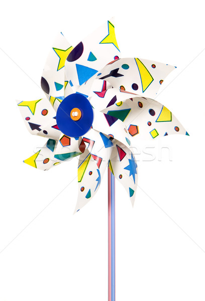 Colorful plastic wind mill Stock photo © carenas1