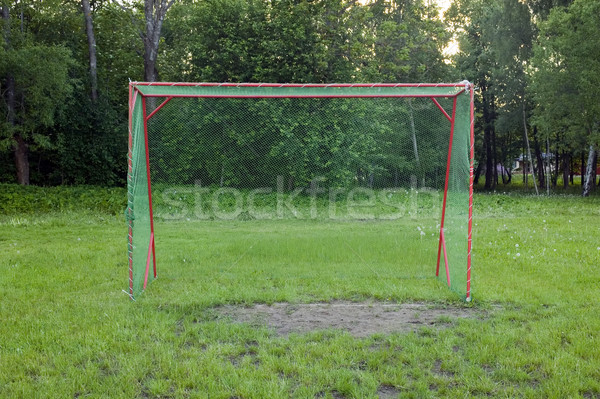 Football gates with nature background Stock photo © carenas1