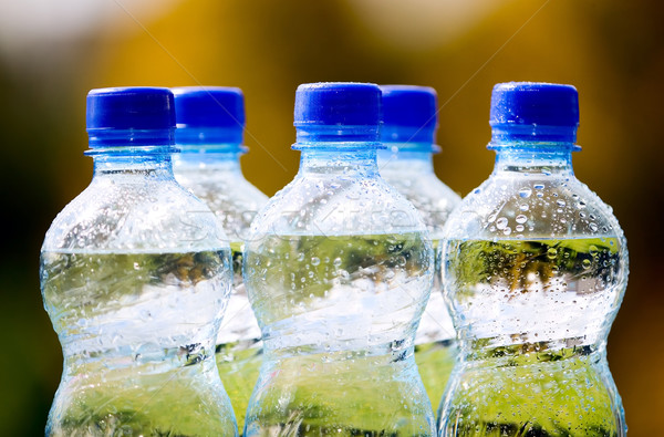 Stock photo: Mineral water bottles on nature background