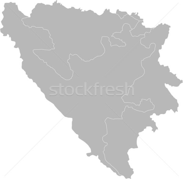 Bosnia Herzegovina mapa país blanco Europa aislado Foto stock © carenas1