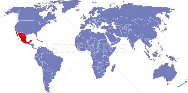 Foto d'archivio: Globale · mappa · mondo · Messico · sfondo · terra