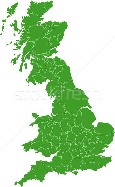 Wielka brytania Pokaż kraju biały Europie Anglii Zdjęcia stock © carenas1