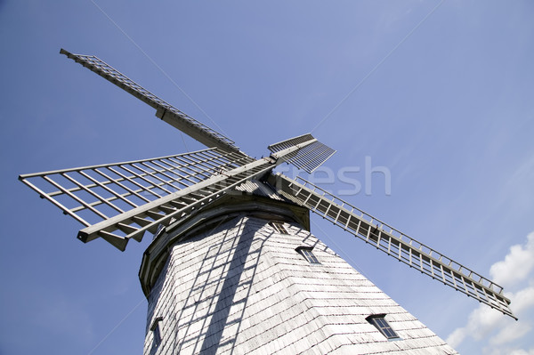 An old windmill  flour production Stock photo © carenas1