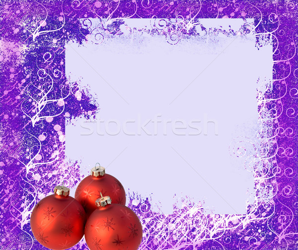 Frame and balls for christmas tree Stock photo © carenas1