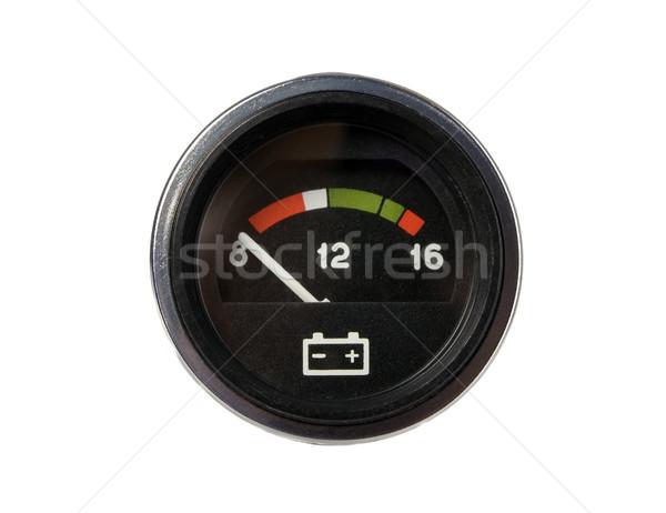 вольтметр аккумулятор автомобилей черный белый Сток-фото © carenas1