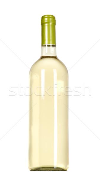 Blanco vid botella vidrio restaurante cena Foto stock © carenas1