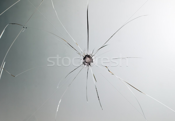 Broken car glass of windscreen Stock photo © carenas1