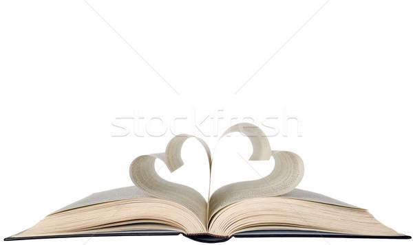 Boek hartvorm vorm hart Stockfoto © carenas1