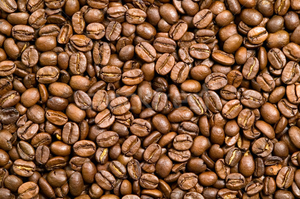 Brown background of coffee beans Stock photo © carenas1