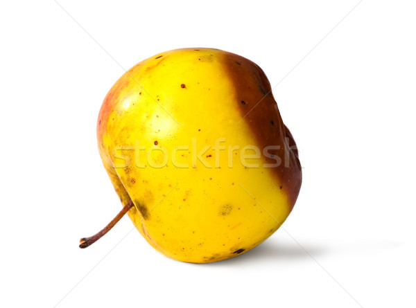 Old rotten apple on white isolated background Stock photo © carenas1