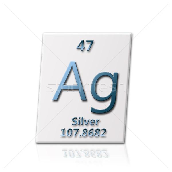 Foto stock: Químico · elemento · prata · informação · escolas
