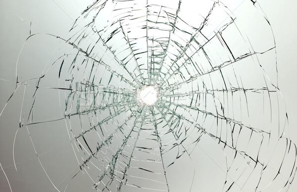Auto rotta vetro buco foto centro finestra Foto d'archivio © carenas1