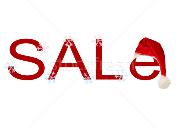 Palabra venta Navidad CAP Foto stock © carenas1