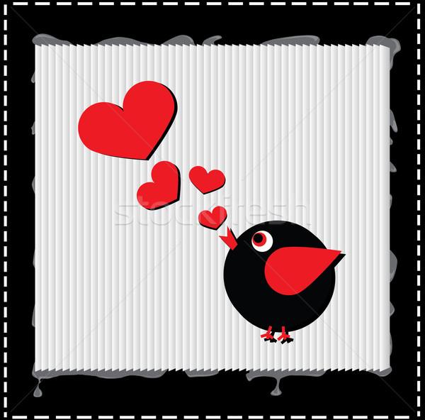鳥 歌 愛 歌 心 ストックフォト © carenas1