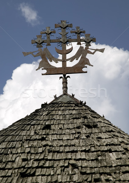 Old metal sculpture on roof Stock photo © carenas1