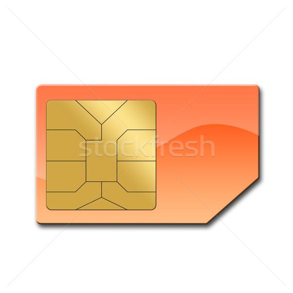 Sim card for mobile phone Stock photo © carenas1