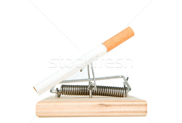 A mouse trap with cigarette Stock photo © carenas1