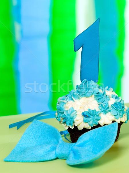 Kicsi születésnapi torta legelső buli otthon művészet Stock fotó © carenas1