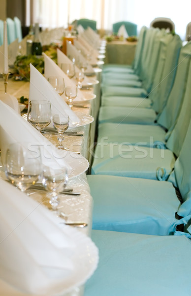 Table for wedding party Stock photo © carenas1