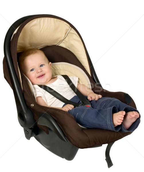мальчика автомобилей сиденье безопасности ребенка сидят Сток-фото © carenas1