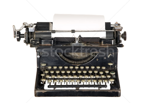 Vintage typewriter on white background Stock photo © carenas1