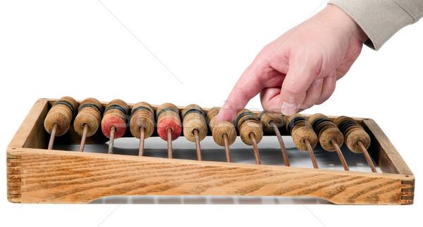 Velho matemático calculadora ábaco madeira metal Foto stock © carenas1