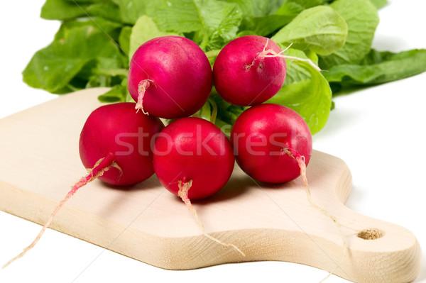 Vers radijs witte voedsel groene Rood Stockfoto © carenas1
