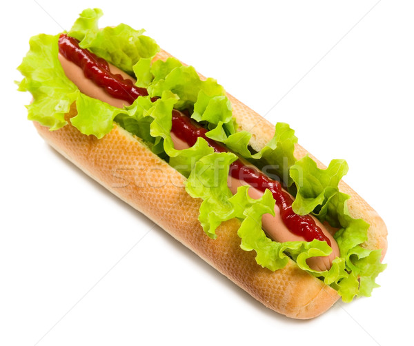 Tasty hot dog, food Stock photo © carenas1