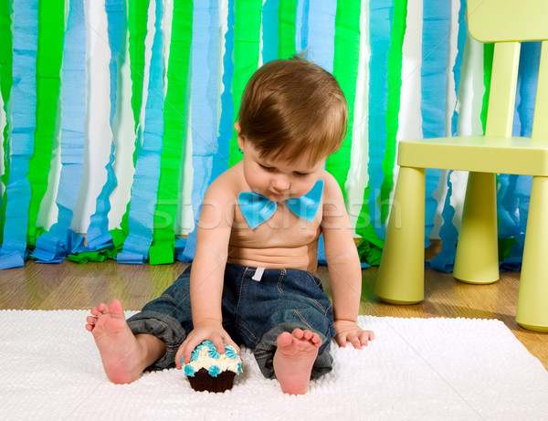 Child is celebrating his first birthday Stock photo © carenas1