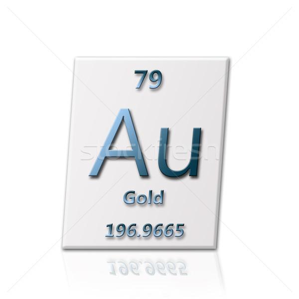 Foto stock: Químico · elemento · ouro · informação · escolas