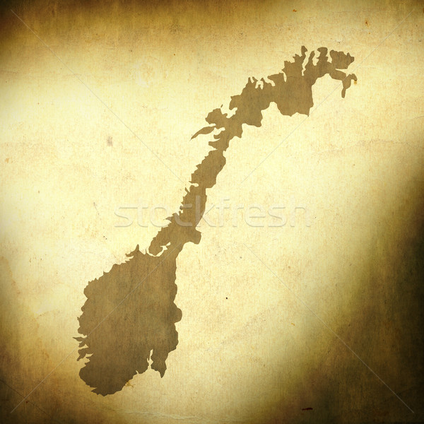 Norway map on grunge background Stock photo © carenas1
