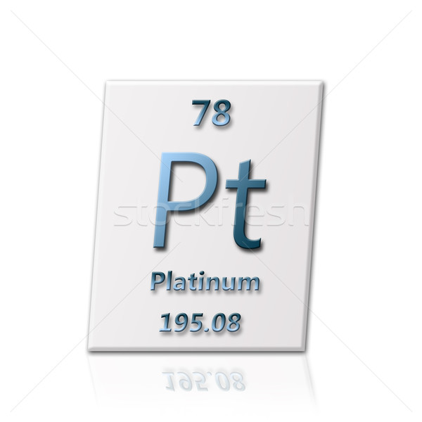 Stock photo: Chemical element Platinum