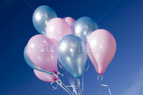 Colorful balloons and blue sky Stock photo © carenas1