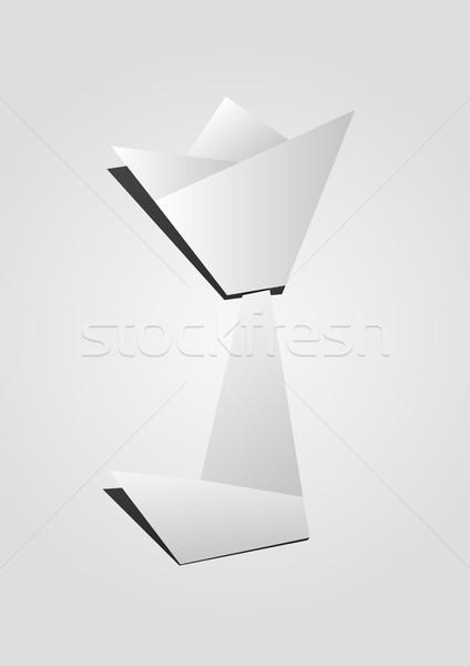 Tulip made by origami technique Stock photo © carenas1