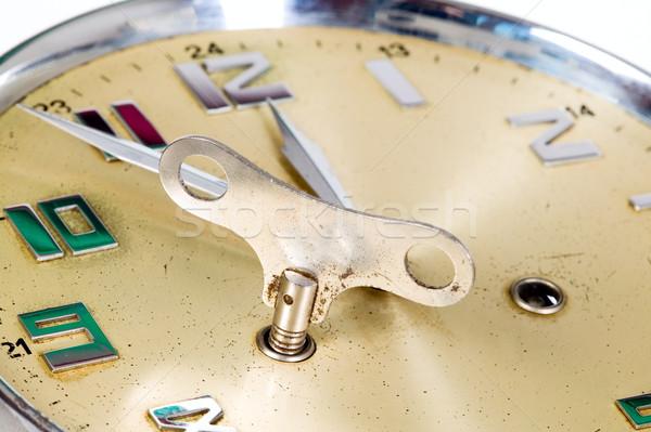 Golden clock Stock photo © carenas1