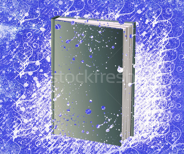Book and grunge background Stock photo © carenas1