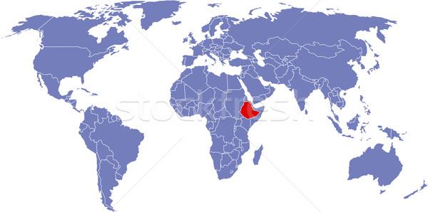 Global harita dünya arka plan toprak beyaz Stok fotoğraf © carenas1