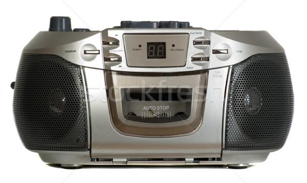 Ses ekipmanları gri yüksek sesle müzik arka plan konuşmacı Stok fotoğraf © carenas1
