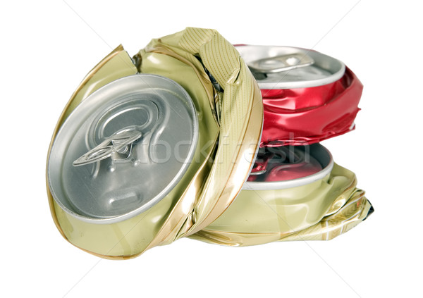 Shape from smashed cans Stock photo © carenas1