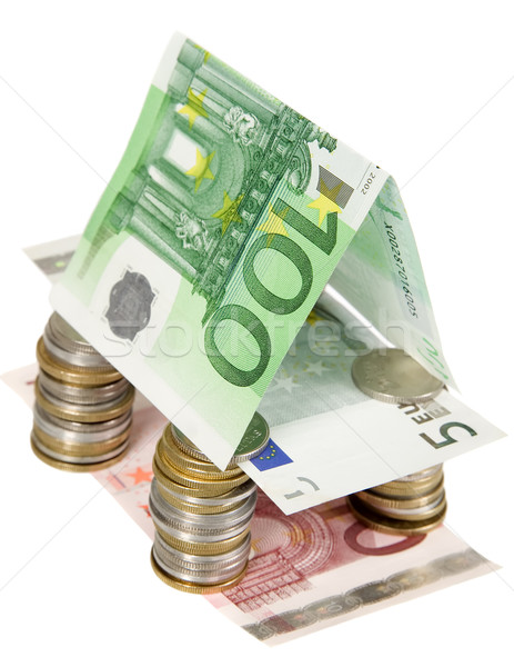 Money house made from cons and banknotes Stock photo © carenas1