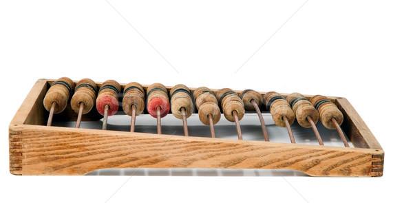 Old mathematical calculator abacus Stock photo © carenas1