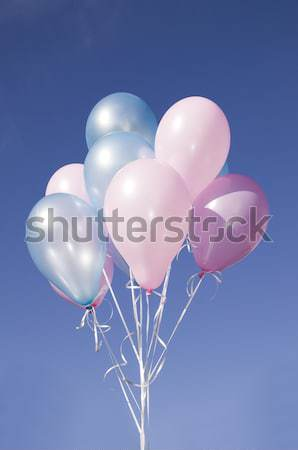 Colorful animated balloons with strings Stock photo © carenas1