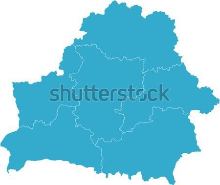карта Беларусь стране белый Сток-фото © carenas1